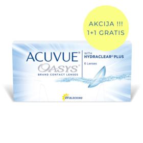 Johnson & Johnson – Acuvue oasys with Hydraclear plus – 1+1 GRATIS