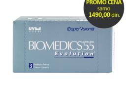 Novo! Biomedics 55 Evolution UV po promotivnoj ceni od samo 1490,00 dinara!